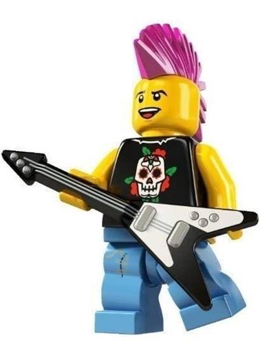 Lego Lego Minifigür - Seri 4 - 8804 - Şunk Rocker Renkli